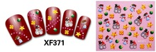 4 Sheets Christmas Manicure 3D Nail Sticker Manicure Adesivos De Unha Stickers Polish Nails Beauty Nail
