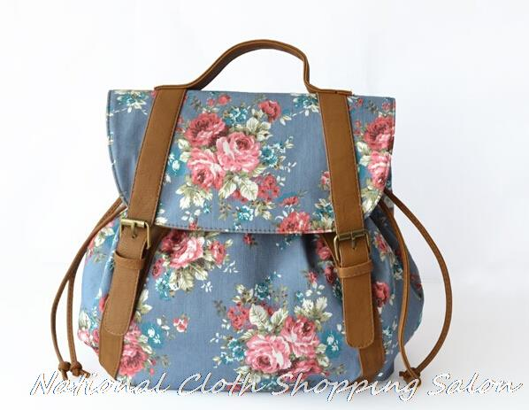 Buy New Vintage Floral Ladies Canvas Bag School Bag Backpack flower Print  Backpack For Girl Women Leisure Bag Travel backpack in Cheap Price on  m.alibaba. ... 8e5addf2a2c18