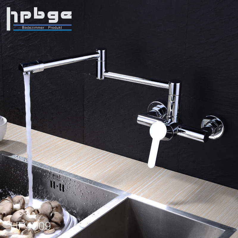 High Quality Brass Polished Facet Single Handle Wall Mounted Kitchen Water Sink Faucet Tap