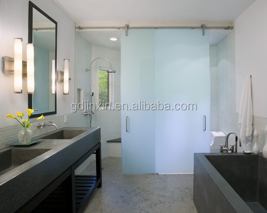Guangzhou JINXIN Frosted Glass Interior French Doors, Shower room Interior Design