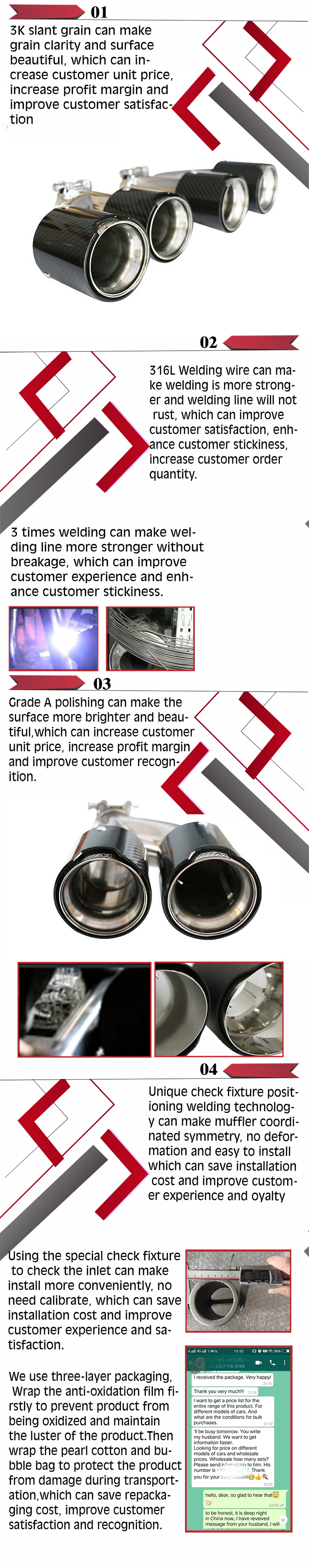 Chinese Gold Supplier Grwa Hot Sales High Quality Twin Exhaust Tip For e60