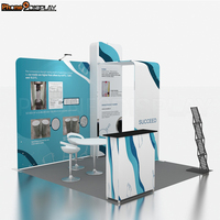 Custom Design Portable Aluminum Exhibition Booth 3x3 m Modular Trade show Booth Display