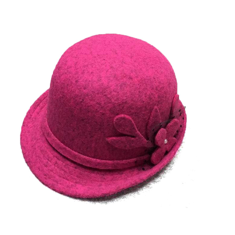 b66112e3974 Get Quotations · Autumn Winter Noble European American Elegant Girls Fashion  Casual Cap Ladies Bucket Hat Women Wool Blend