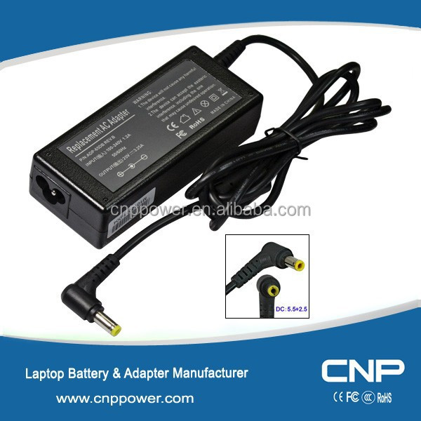 65W Universal Notebook AC Adapter DC 20 V and charger for Fujitsu Amilo Pro V2000 LCD Digital IBM / Lenovo Ideapad S9e notebook