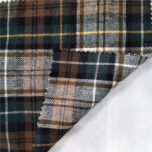 Y/D 75% Polyester 25% Cotton Yarn Dyed Gingham Check Poplin Fabric