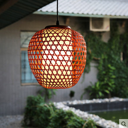 Retro Restaurant Hotel Ancient Town Inn bamboo woven pendant lights