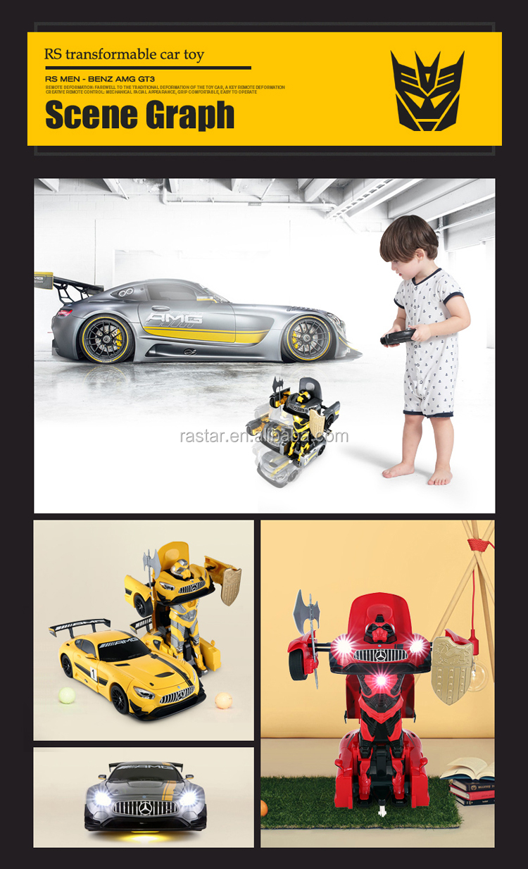 Rastar other toys & hobbies Benz transformable robot rc car