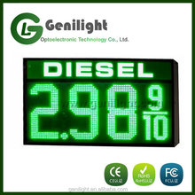 LED Gas Price Changer USA Size 12''Diesel Fuel Green Gas Station Display