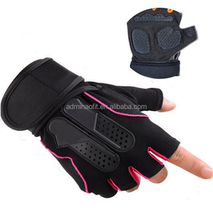 Custom men women half-finger fitness gym waterproof neoprene cycling gloves