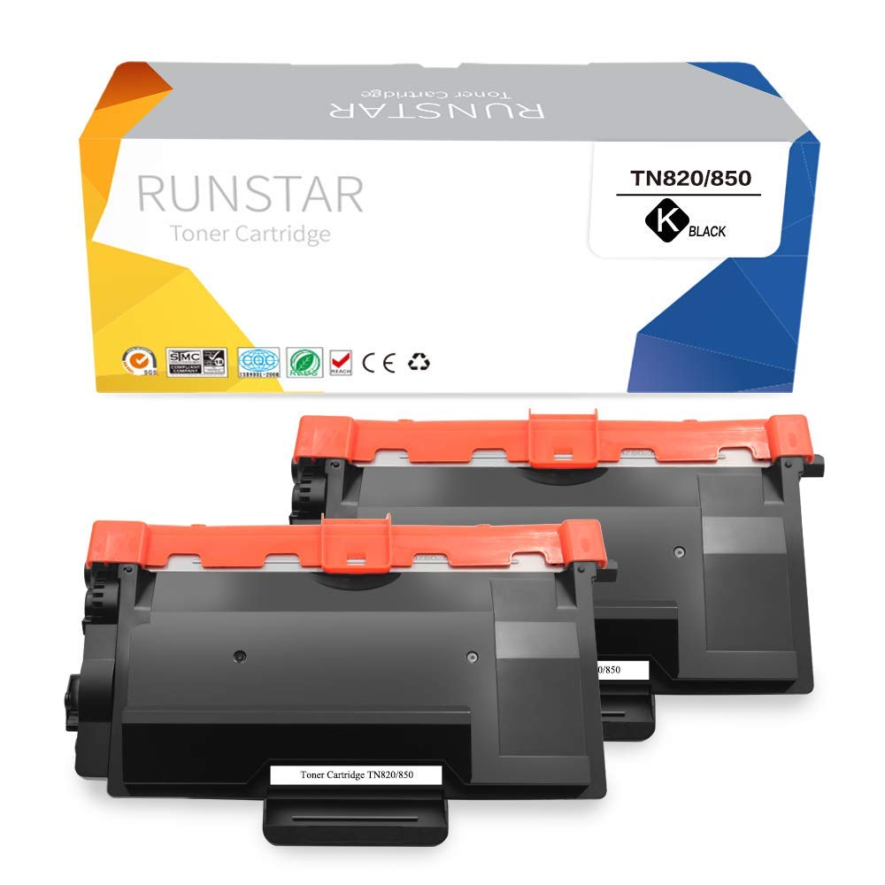Run Star Compatible Toner Cartridge Replacement for Brother TN850 TN820 Use with Brother HL-L6200DW HL-L6200DWT HL-L6250DW MFC-L5800DW MFC-L5900DW DCP-L5650DN DCP-L5600DN DCP-L5500D Printer, 2 Packs