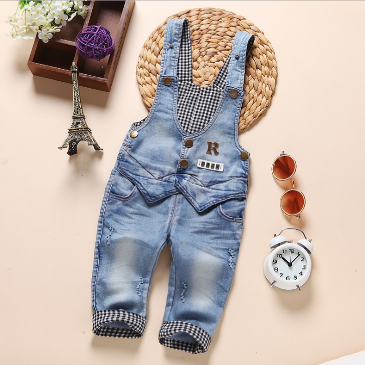 zm22570a fashion denim overalls baby boy pants
