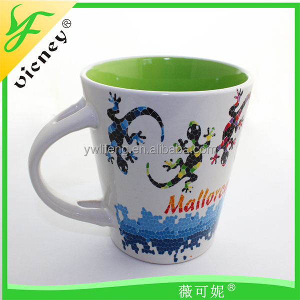 Heat transfer temperature ceramic tea cup, coffee color changing cup mug China supplier factory direct factory in yiwu