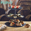 New design wedding/party decoration glass cake plate stand three layers plate