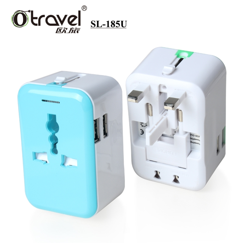 OEM Brand Travel Charger Adapter Plug all in one for travel agency hotel guest give-away gifts