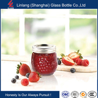 Linlang welcomed glassware products,Ball Jelly Elite Collection Jam Jar 4 Pack, 8 oz, Clear
