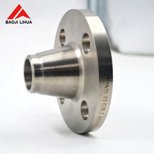 Hot sale dn100 pn16 weld neck reducing pipe wn titanium flange