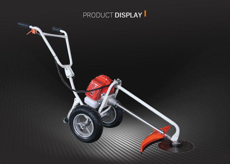 HUSTIL High Quality Professional Hand Push Brush Cutter with 2 wheels