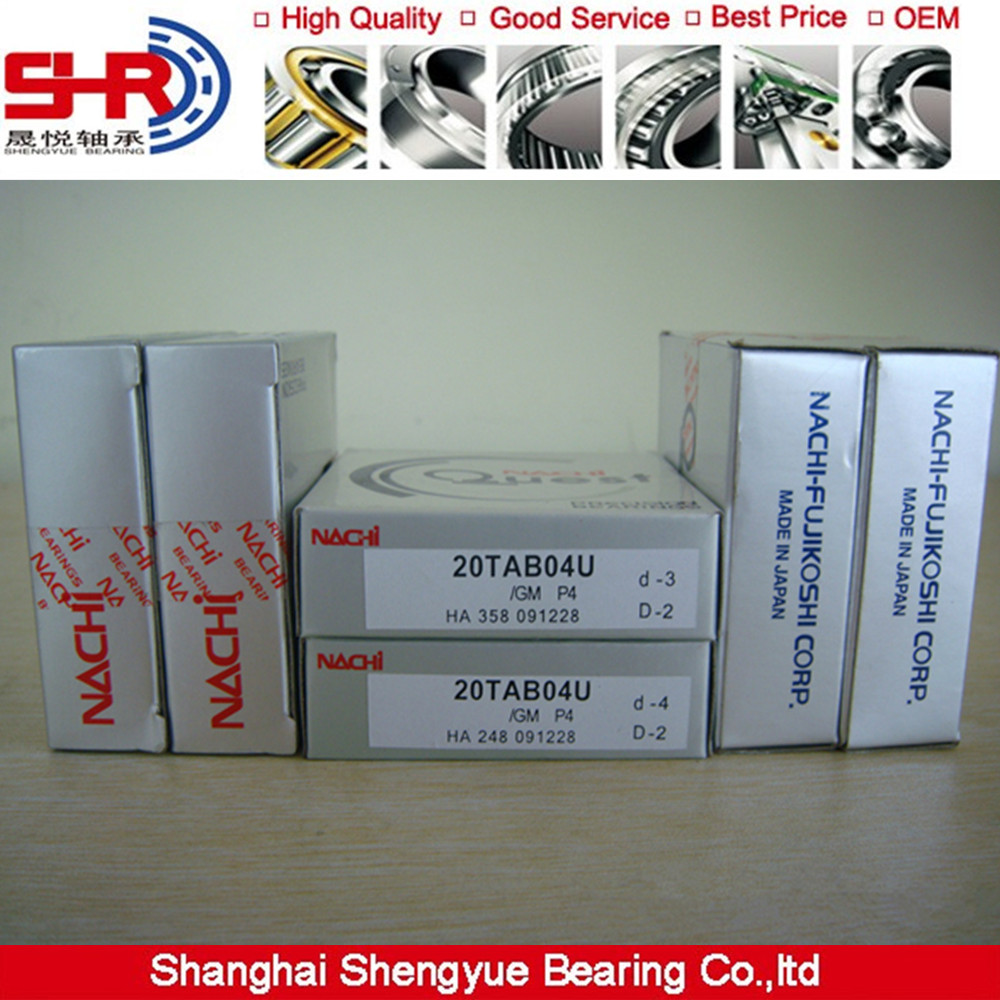 Super precision bearing NACHI Ball screw support bearings 40TAB07DF/GMP4
