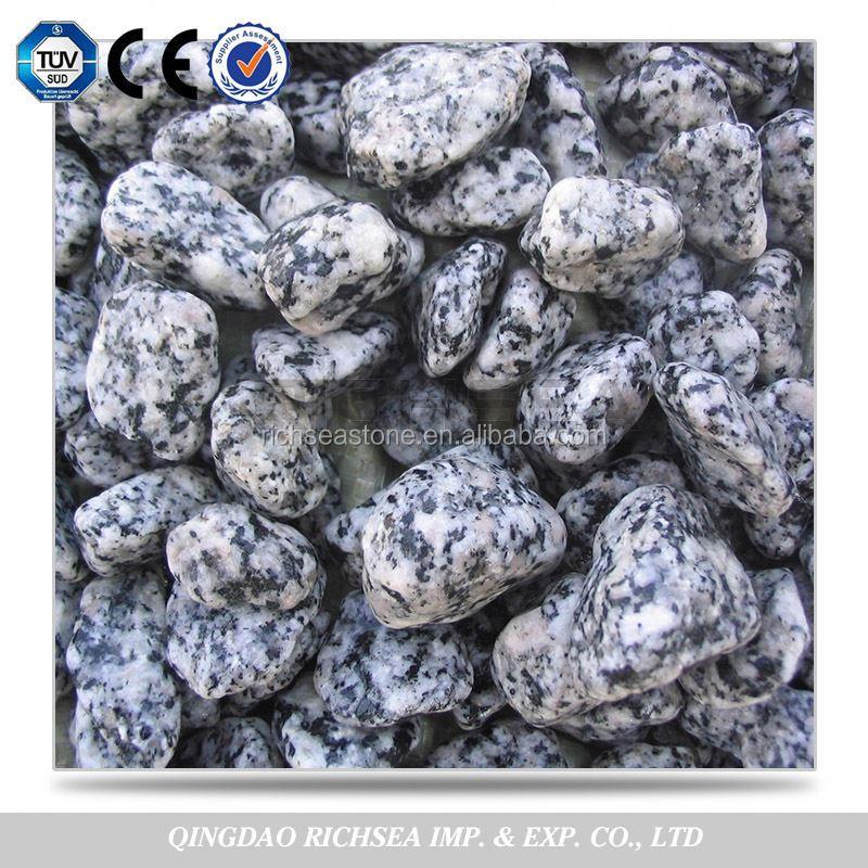 China Natural Black White Granite Pebbles Landscape Stone Buy