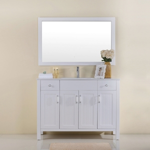High-End Spanish Baroque Freestanding Custom Single Sink Vanity Modern Chinese Classic Bathroom Cabinet