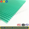 100% virgin Sabic brand Polycarbonate Hollow Sheet Green Colour