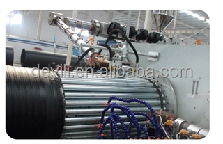 Plastic machinery: HDPE hollow winding pipe extruder
