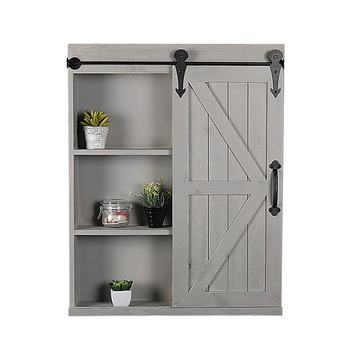 Farmhouse Bathroom Wall Mount Hanging Wood Cabinet With Mirror Product On