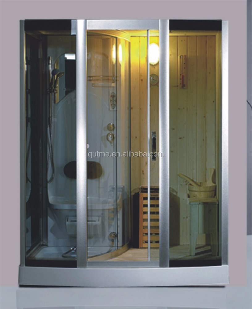 AS-1217 cheap wet and dry steam sauna shower room combination