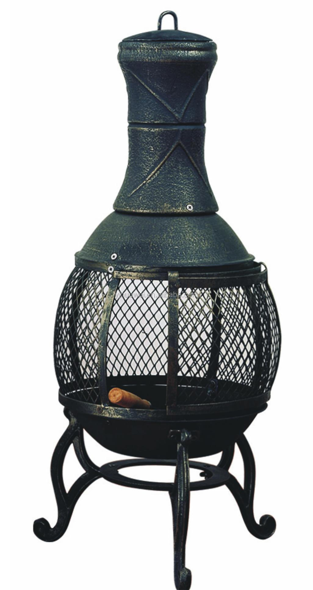 Cast Iron Outdoor Chiminea Modern Patio Outdoor