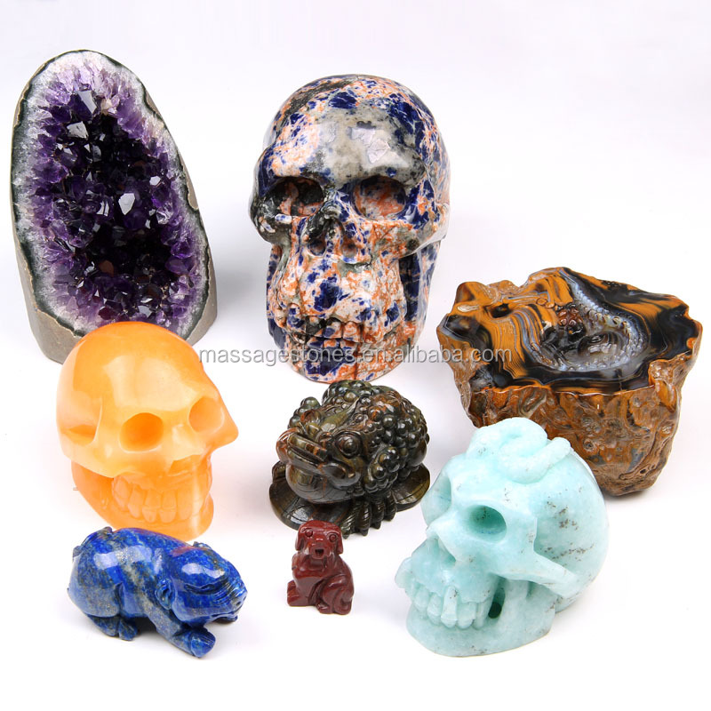 Wholesale crystal skull, animal,angel, lucky toad,buddha, elephant,dog,pendulum carved stone gift