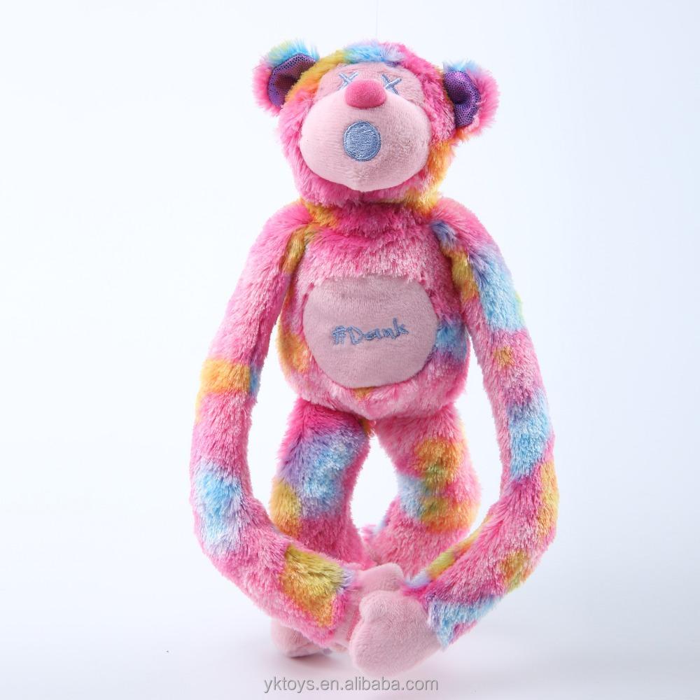 Nhiều màu custom made khỉ đồ chơi sang trọng nhồi plush cánh tay dài khỉ