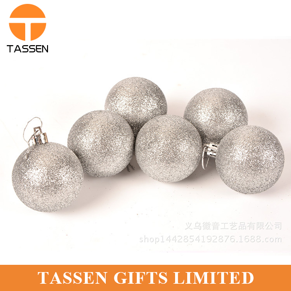 customized christmas ball Silver plated spray color santa ball painted glass Christmas ornaments