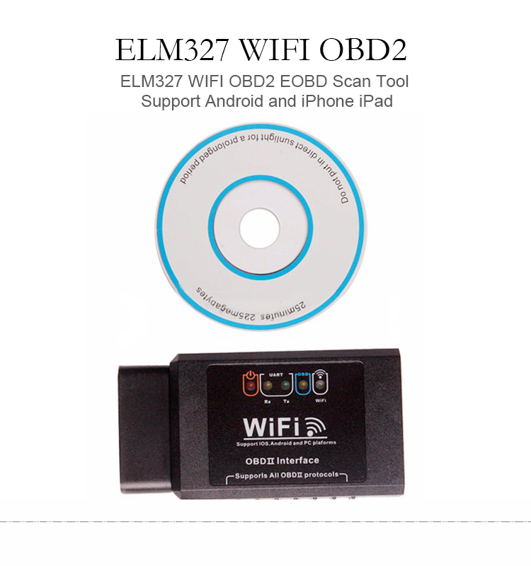 Great quality ELM327 WIFI OBD2 EOBD Scan Tool Support Android and iPhone iPad ELM009