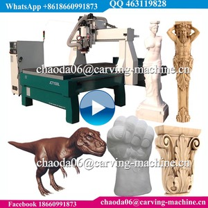 1325 1530 ATC 5D 4D 3D Pillar Column Statue Sculpture Carving Rotary Foam 3D Wood Cnc Engraver, Foam 4 Axis 3D Carver Machine
