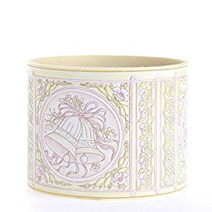 Factory Direct Craft Package of 12 Romantic and Dainty Embossed Wedding Containers for Creating Centerpieces, Favors and Embellishing