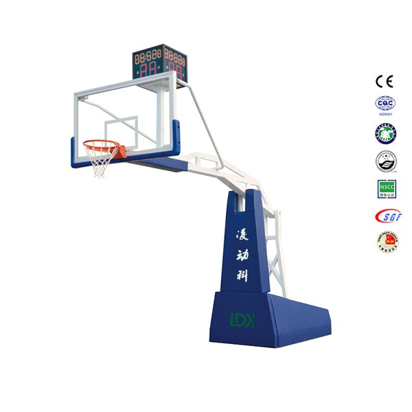 Professional electric hydraulic steel basketball hoop