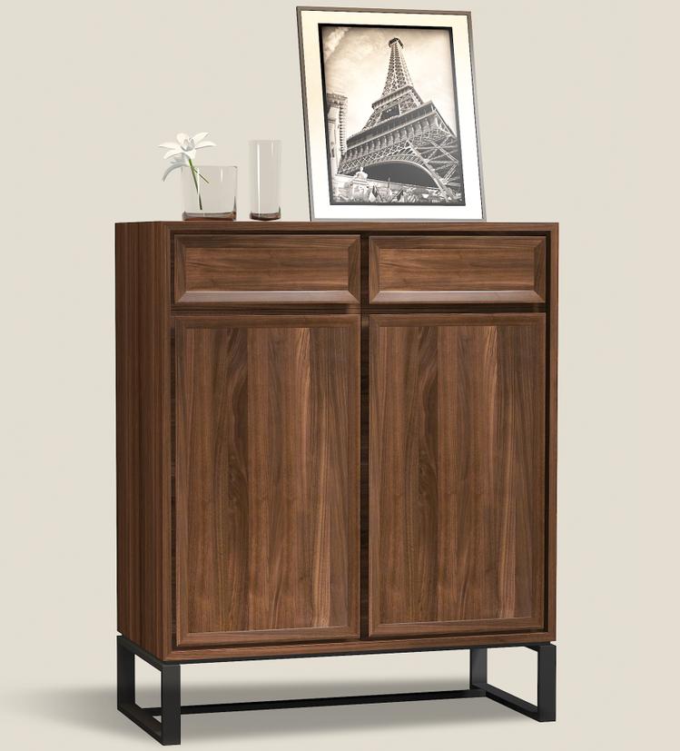 Vintage America Style Solid Wood Sliding Door Shoe Cabinet Design ...