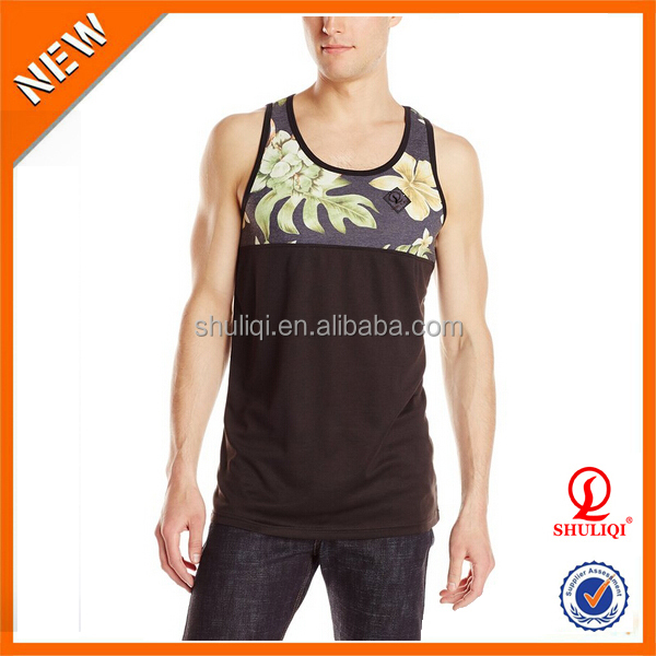 Personal brand stringer vest custom, cotton man tank top wholesale in Guangzhou