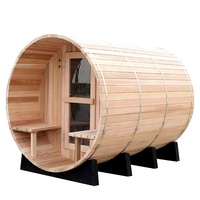 New style pure canadian red cedar wooden room outdoor cabin barrel sauna for sale