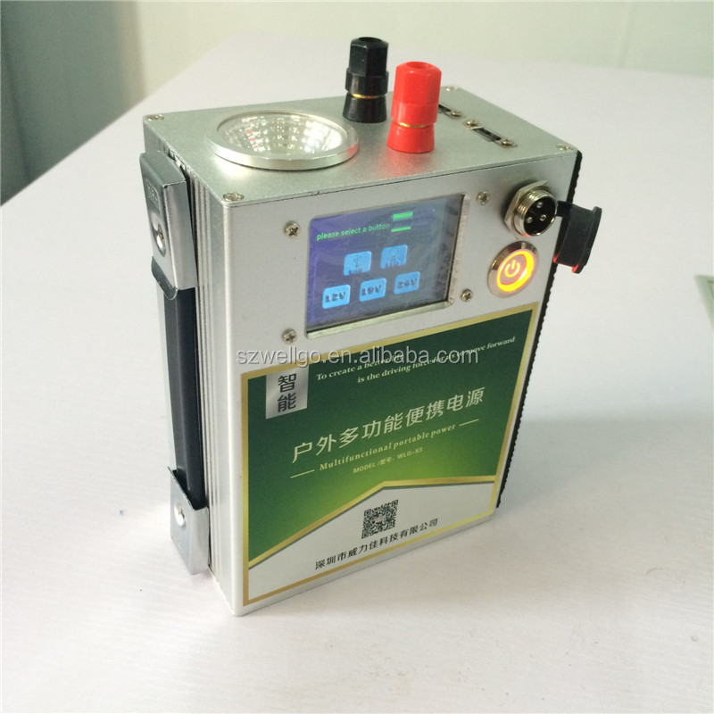 Portable Online ups power system 12V 25ah Li-ion Battery UPS backup Power source Emergency Lighting Touch Control Screen