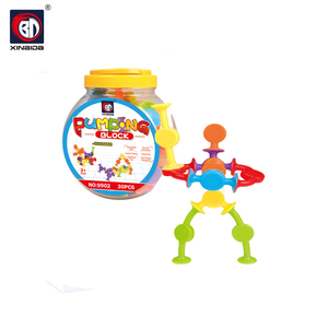 New product blocks stacking construction set suction cup toy with high quality