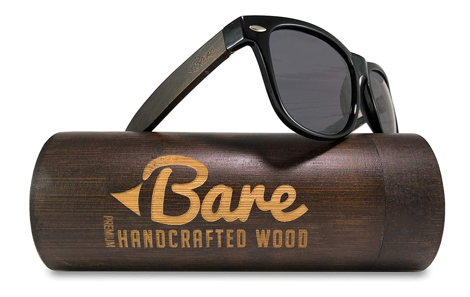 ca143363aff4 Get Quotations · Bare Wood Sunglasses Polarized - 100% UV400 Polarized Lens  - Premium Real Wood Quality with