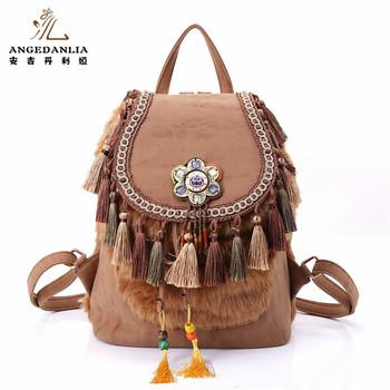 02b3bc42b9 Hippie Gypsy BOHO Bags Fashion Shoulder Bag Travelling Women Backpack