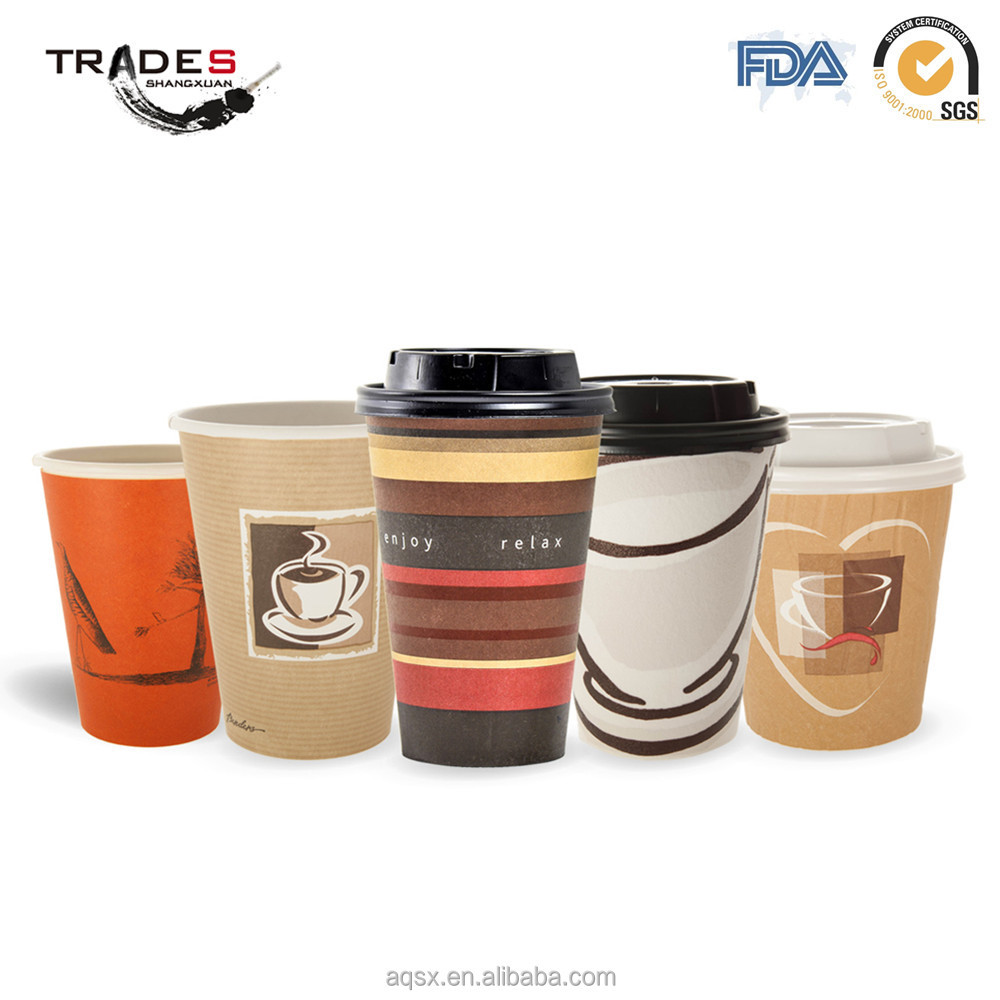 Custom Design Size of Single Wall Paper Cup for Coffee