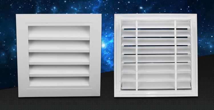 Ventilation And Decorative Air Conditioner Louver Exhaust