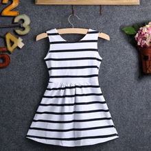 2016 Summer Baby Kids Girls Party Wedding Striped Bowknot Gown font b Fancy b font font