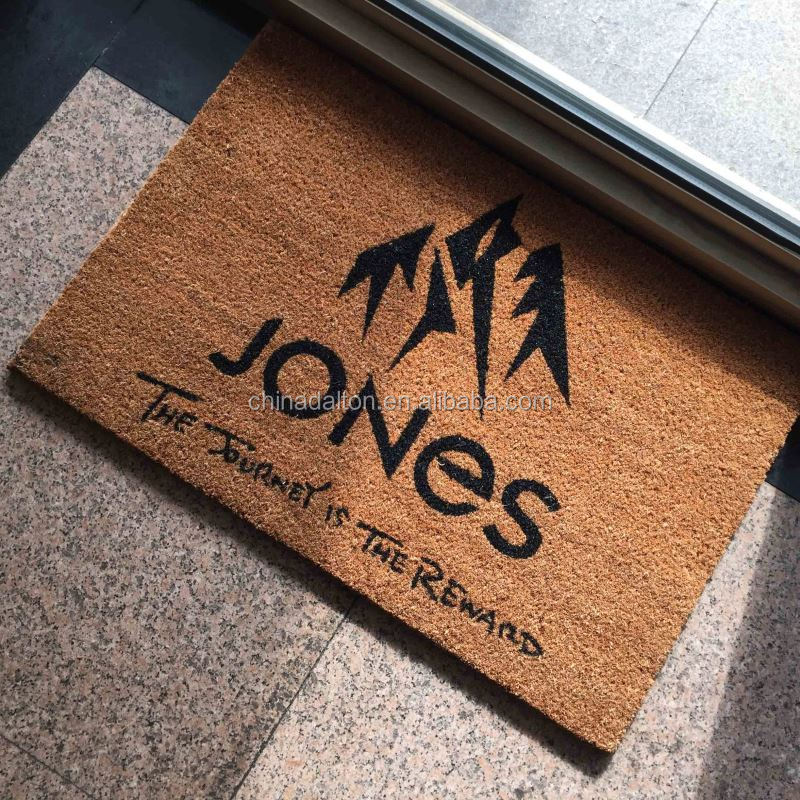 Brand Advertise Custom Coir Logo Mats
