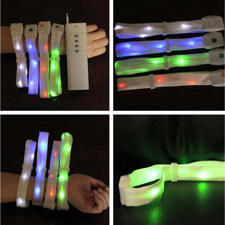 Custom Led Bracelet Party Supply/remote Controlled Light Up ...