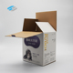 Custom design folding corrugated glossy printed packing carton box