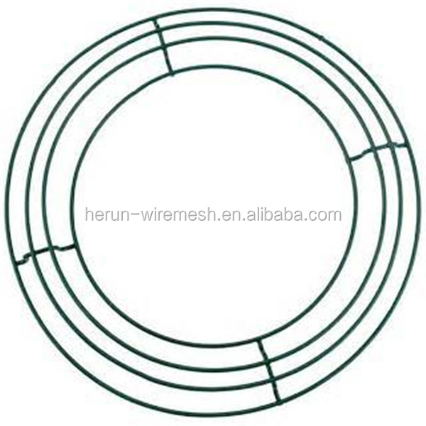 hr metal wire wreath frames for christmas tree garden use - Wreath Frames